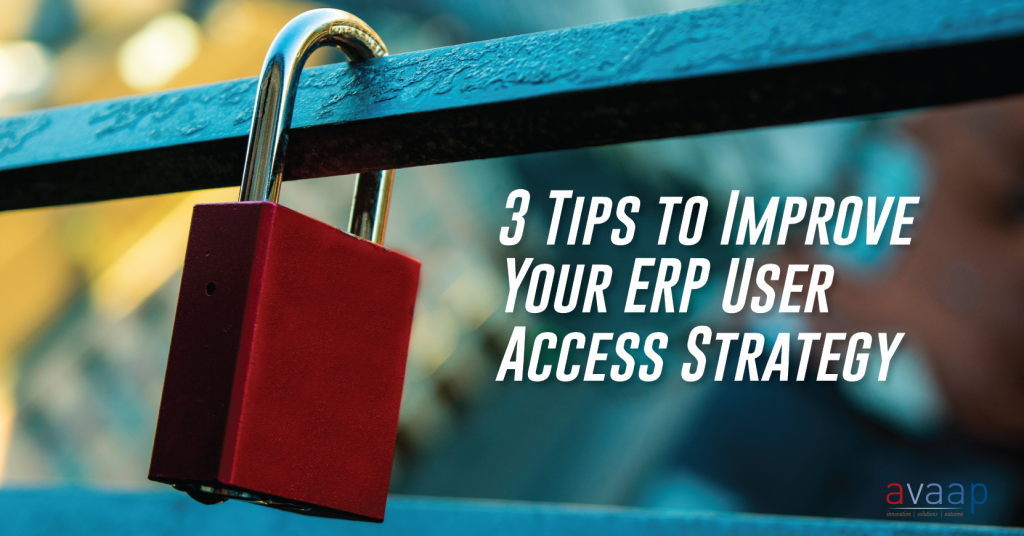 3 Tips to Improve Your ERP User Access Strategy