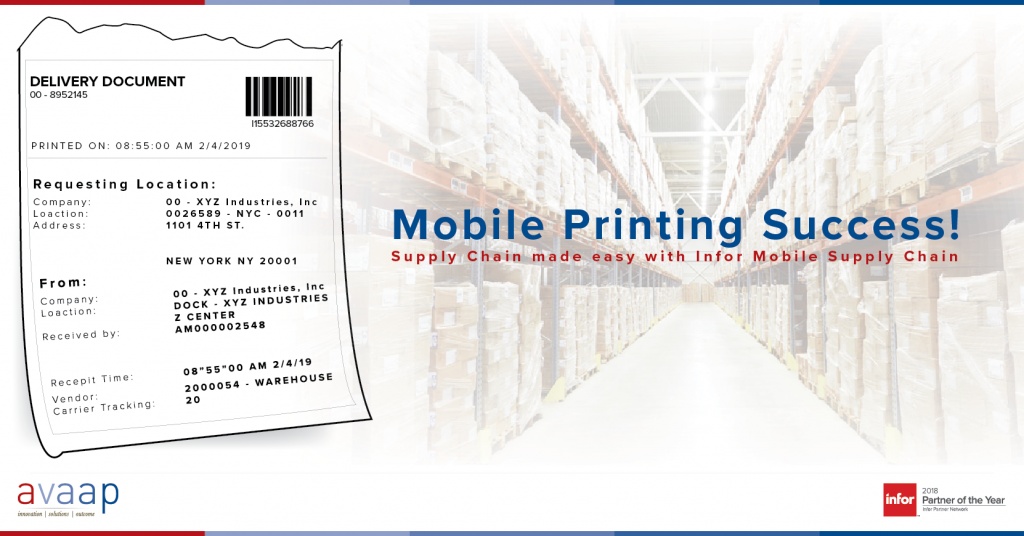 Supply Chain Mobile Receipt Printing